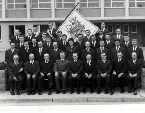 Gesangverein 1888 Höringen e.V. im Jubiläumsjahr 1963